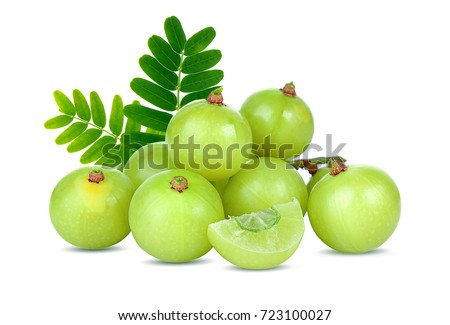 Indian gooseberry isolated on white background Stock photo ©