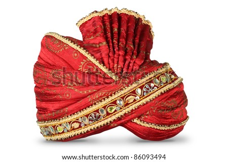 Indian Headgear used in Marriages / occasions - stock photo