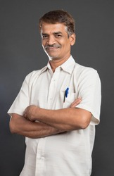 Indian Hindu man closeup, Mumbai, Maharashtra, India, Southeast Asia