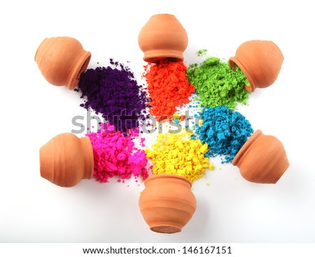 Indian Holi festival colours