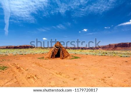 Indian Hut at Monument Valley, Arizona-USA