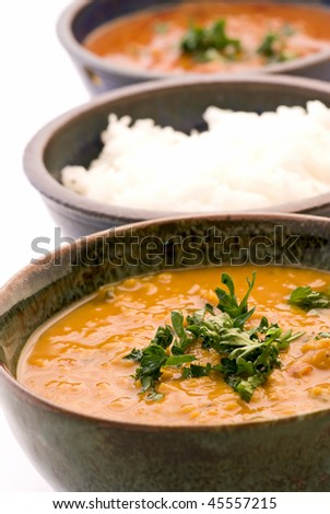 Indian Lentil Soup with Rice