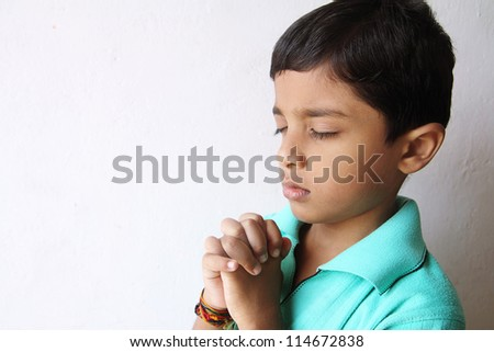 Indian Little Boy Praying