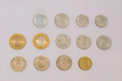 INDIAN METAL MONEY. INDIAN COIN CURRENCY. INDIAN COINS. HARD CASH CURRENCY.