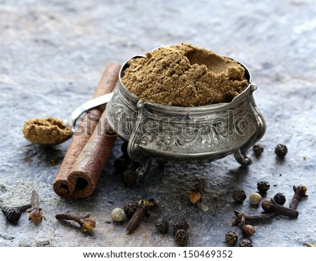 Indian mix of ground spices garam masala
