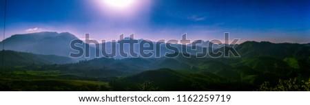 Indian mountain panorama #1162259719