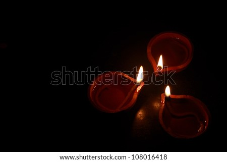 Indian Oil Lamps - stock photo