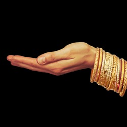 indian-palm with bangle