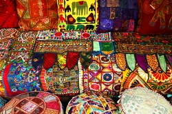 Indian pillows and carpets