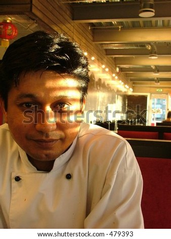 indian restaurant chef - stock photo