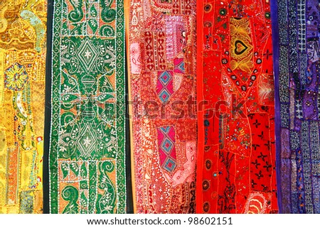 Indian shawls in Jaisalmer, Rajasthan