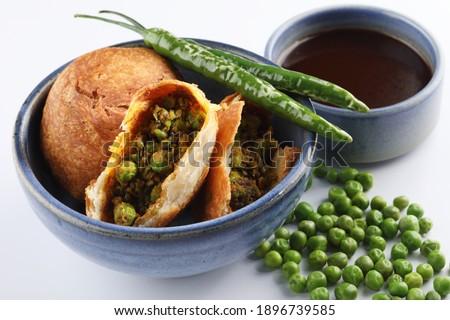 Indian special traditional matar or green peas Kachori  Foto stock ©