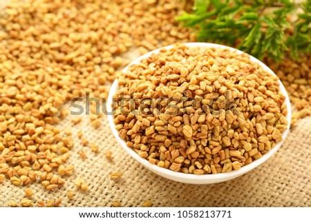 Indian spice - fenugreek seeds #1058213771
