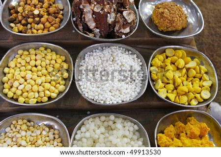 Indian spices and nuts