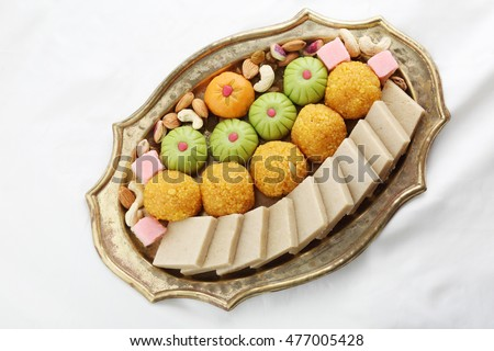 indian sweet ,Kaju Katli Indian sweet,Diwali sweets called Motichoor Ladoo