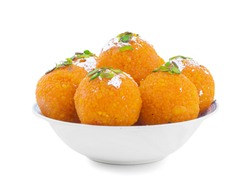 Indian Sweet Motichoor laddoo Also Know as Bundi Laddu or Motichur Laddoo Are Made of Very Small Gram Flour Balls or Boondis Which Are Deep Fried