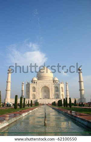 Indian Taj Mahal - stock photo