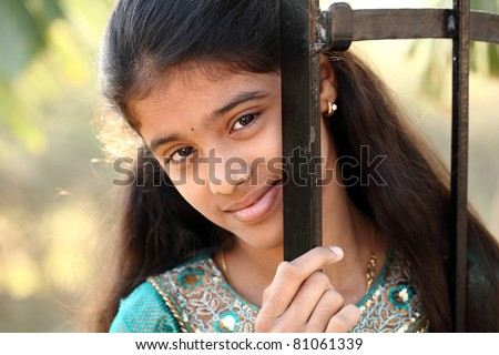 stock photo Indian teen beautiful teen girl Indian teen girl Indian
