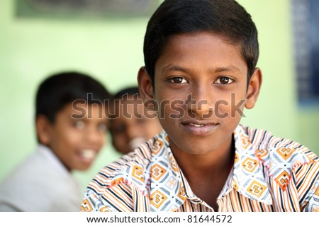 Indian teen boys posing to the camera.