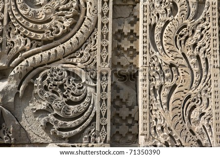 Indian temple walls detail.