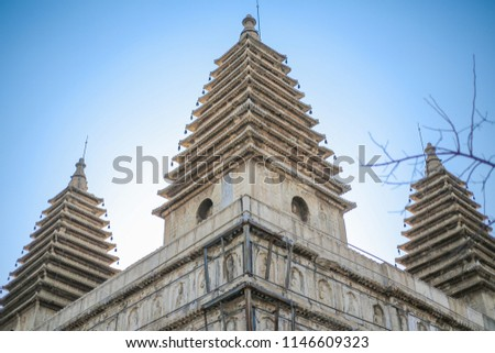 indian temples, india temple, Old Temple in China #1146609323