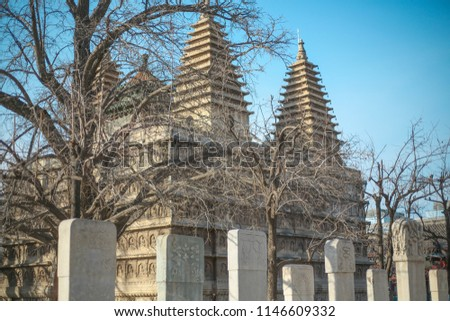 indian temples, india temple, Old Temple in China #1146609332