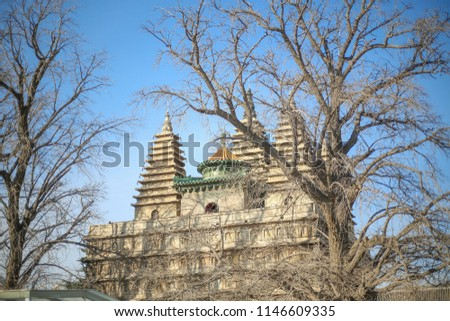indian temples, india temple, Old Temple in China #1146609335