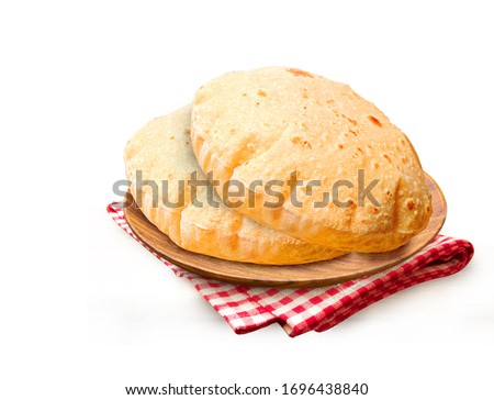 Indian Traditional Cuisine Chapati The Phooli ( Air filled) Roti
