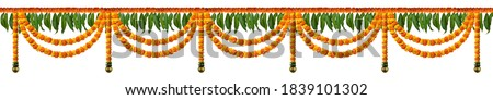 Indian Traditional flower decoration, Indian festival garland