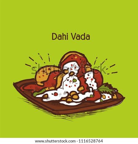 indian traditional street food dahi vada