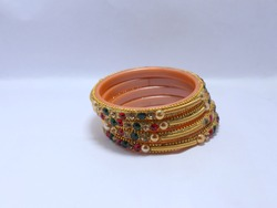 Indian Traditional Wedding Bangles. Selective focus on bangles.