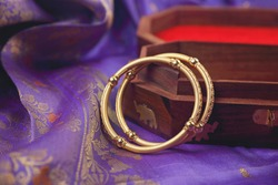 Indian traditional wedding gold Bangles