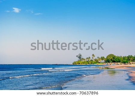 Indian tropical coast during the sunny day