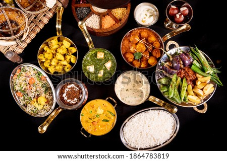 Indian Veg Curry on Top View Stock fotó ©