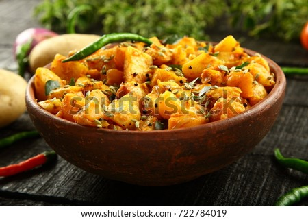 Indian Vegetarian food- Aloo jeera.