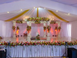 Indian wedding in hall