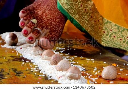 Indian wedding scenes (Maharashtrian Saptapadi pic)