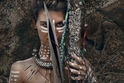 Indian woman hunter