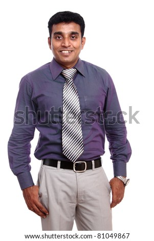 Indian young businessman isolated on white / Indian young businessman / Indian young businessman