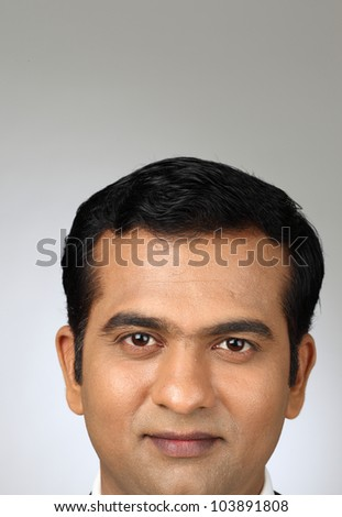 indian Young man's face