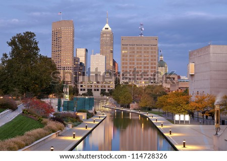 Indianapolis. Image of downtown Indianapolis, Indiana in autumn.