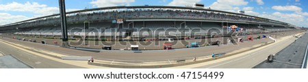 INDIANAPOLIS, IN-AUG 29: Panoramic view of the track during MotoGP Red Bulls Indiapolis Grand Prix at Indianapolis Motor Speedway August 29, 2009 in Indianapolis, Indiana