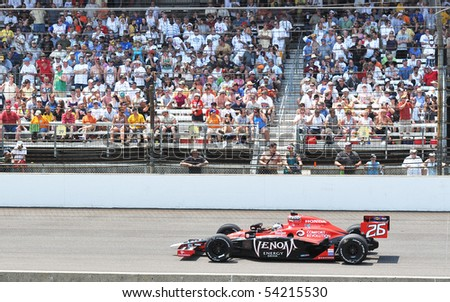 INDIANAPOLIS, IN - MAY 30: Indy car driver marco andretti is running in the Indy 500 race May 30, 2010 in Indianapolis, IN