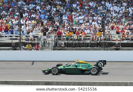 INDIANAPOLIS, IN - MAY 30: Indy car driver Takuma Sato is running in the Indy 500 race May 30, 2010 in Indianapolis, IN
