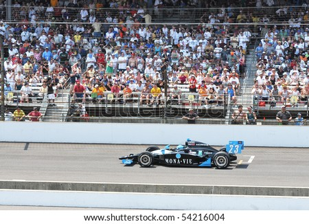 INDIANAPOLIS, IN - MAY 30: Indy car driver tomas scheckter is running in the Indy 500 race May 30, 2010 in Indianapolis, IN - stock photo