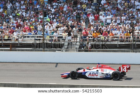 INDIANAPOLIS, IN - MAY 30: Indy car driver vitor meira is running in the Indy 500 race May 30, 2010 in Indianapolis, IN