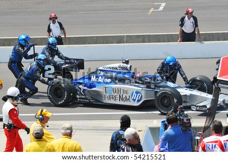 INDIANAPOLIS, IN - MAY 30: Indy 500 driver Raphael Matos having Fit stop in  Indianapolis IN May 30, 2010 in Indianapolis, IN