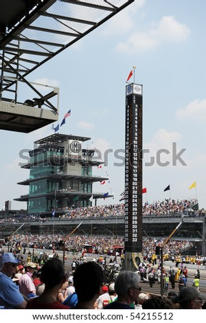 INDIANAPOLIS, IN - MAY 30: Indy 500 race day stat tower indianapolis motor speed way may 30, 2010 in Indianapolis, IN