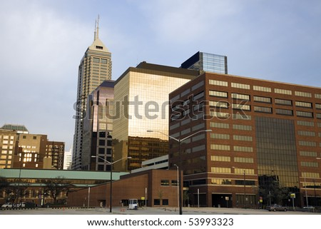 Indianapolis, Indiana in the morning.