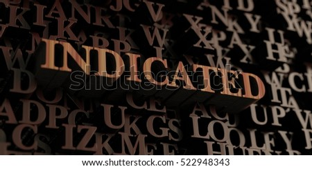 Indicated - Wooden 3D rendered letters/message.  Can be used for an online banner ad or a print postcard.